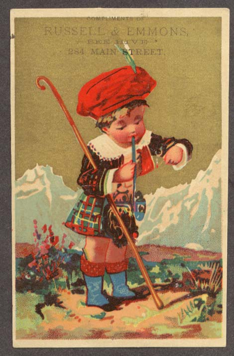 Image for Russell & Emmons trade card Scots boy smokes pipe