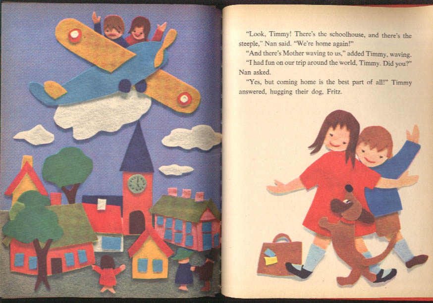 Around the World Cutout Book Wonder Bks #826 1964