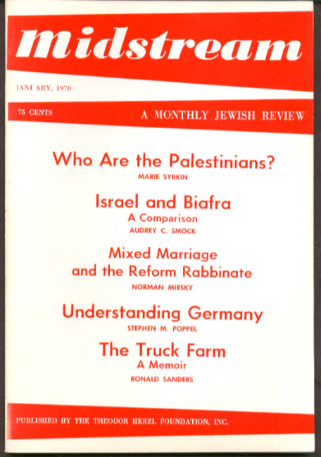 MIDSTREAM Palestinians Biafra Mixed Marriage 1 1970