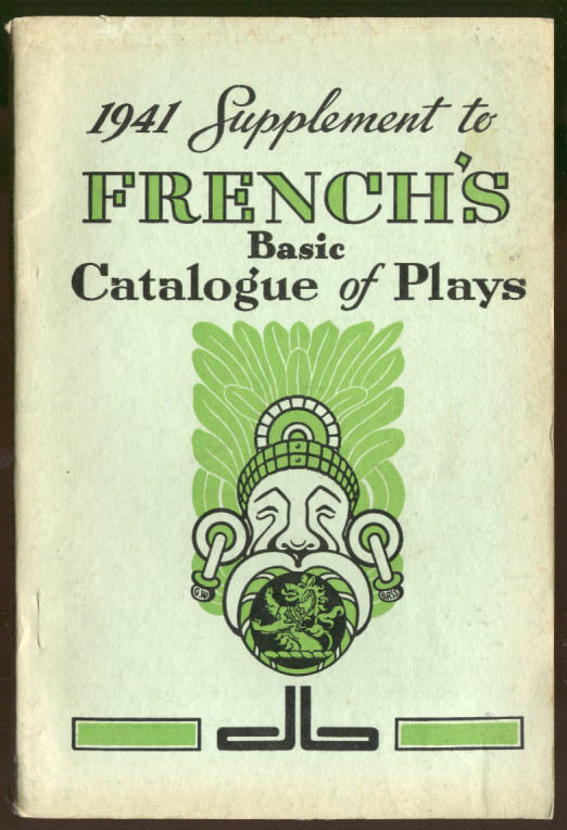 1941 Supplement to Samuel French's Basic Catalogue of Plays