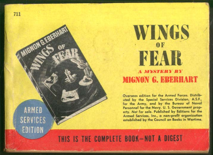 ASE 711 Mignon G Eberhart: Wings of Fear
