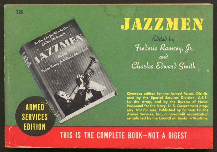 ASE 726 Fredric Ramsey Jr Charles Edward Smith: Jazzmen