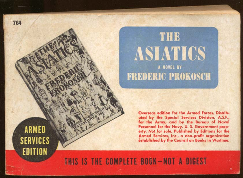 Image for ASE 764 Frederic Prokosch: The Asiatics