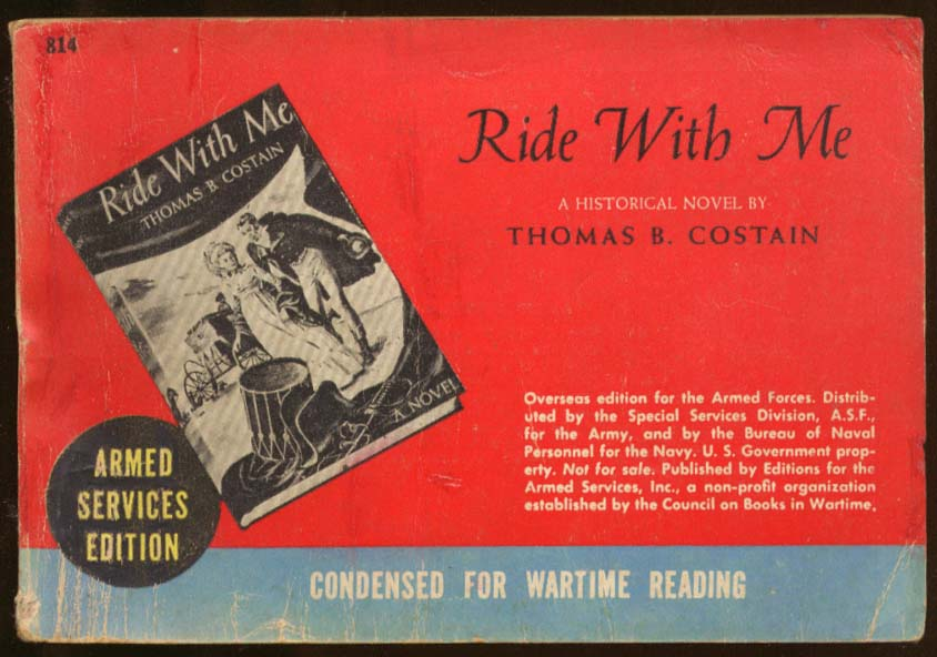 ASE 814 Thomas B Costain: Ride With Me