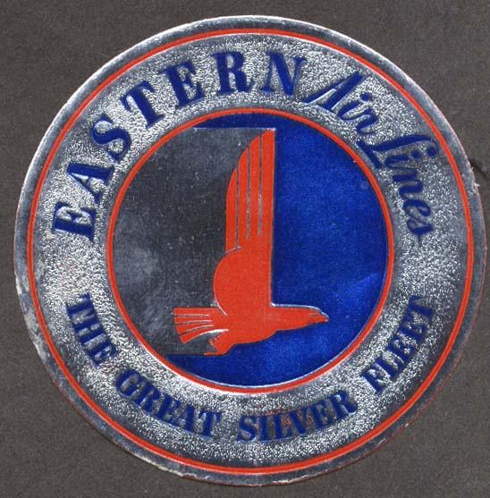 Eastern Air Lines Great Silver Fleet foil sticker 1950s