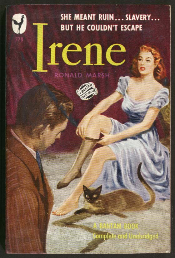 Ronald Marsh: Irene GGA pb stockings redhead bosom cat