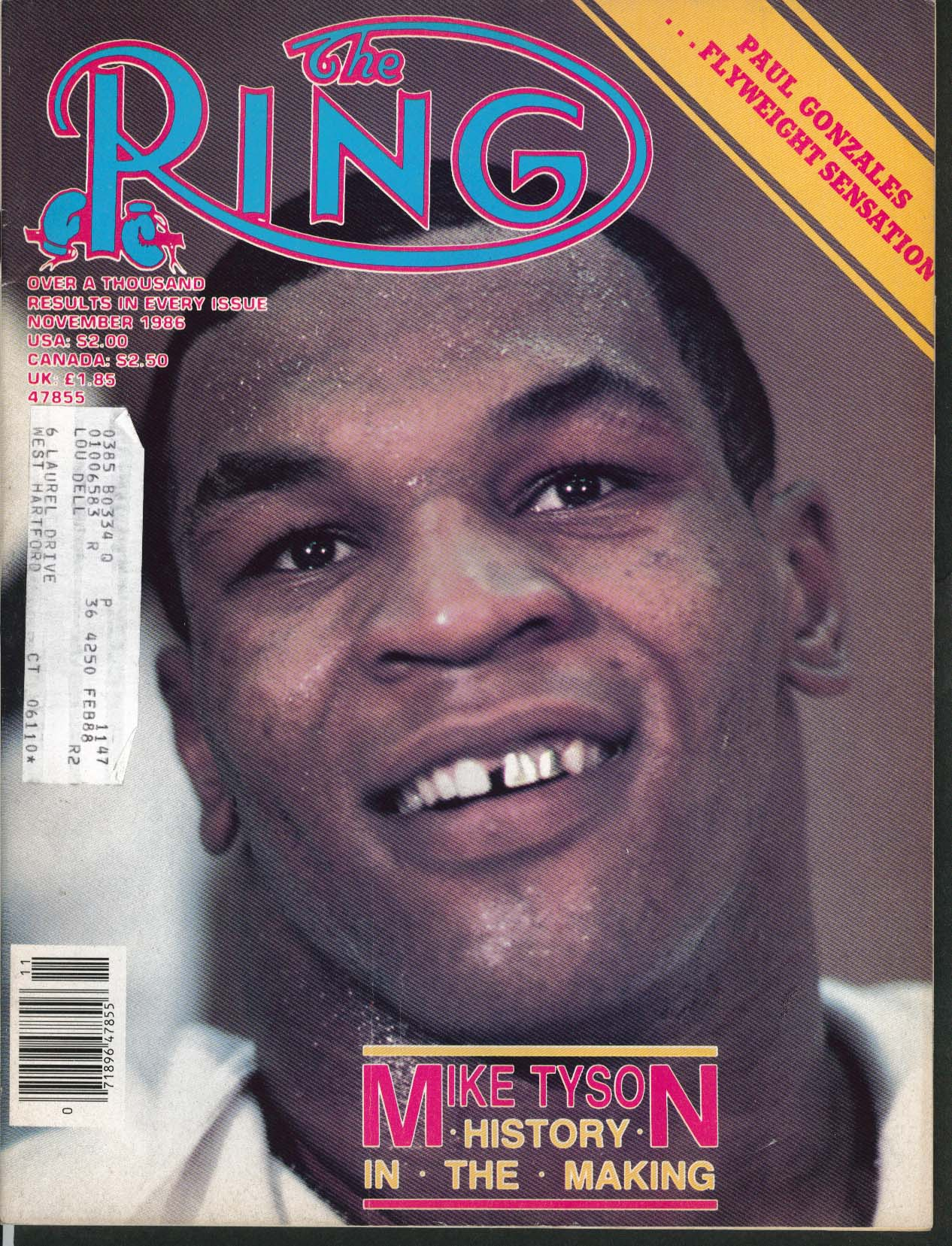 RING Mike Tyson Paul Gonzales Berbick Navarro 11 1986