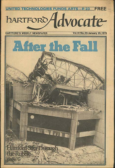 Civic Center Collapse HARTFORD ADVOCATE 1/25 1978