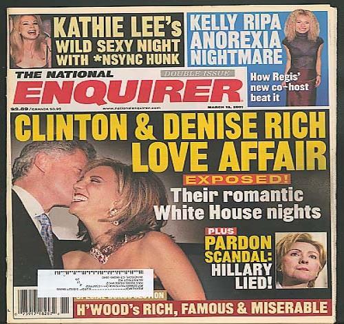NATIONAL ENQUIRER Clinton Denise Rich Kathie Lee Ripa 3/13 2001