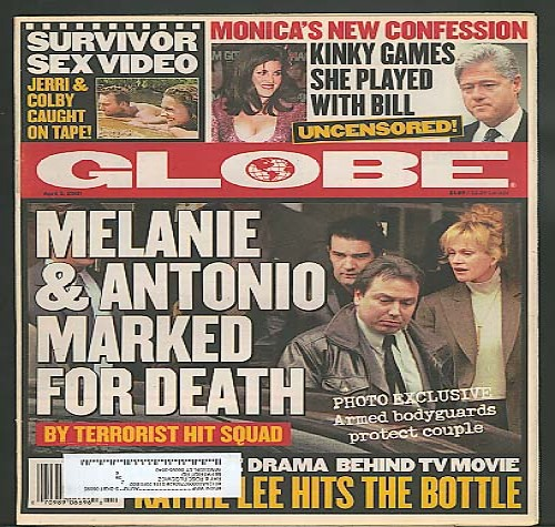 GLOBE Monica & Clinton Melanie Griffith 4/3 2001
