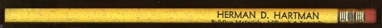 Herman D Hartman Building Materials Lehighton PA pencil