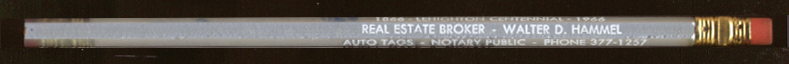 Hammel Real Estate Lehighton Centennial 1966 ad pencil