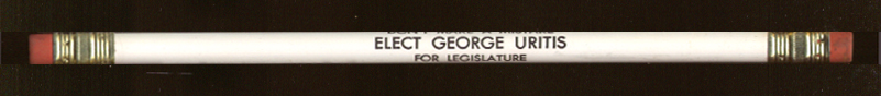 Don't Make Mistake Elect George Uritis ad pencil