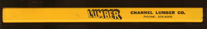 Channel Lumber Co Borg-Warner Plumbing ad pencil