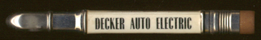 Decker Auto Electric Greeley CO advertising pencil