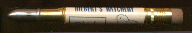 Hilbert's Hatchery Redwood Falls MN advertising  pencil