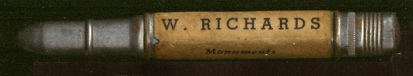 Image for W Richards Monuments Naugatuck CT advertising pencil