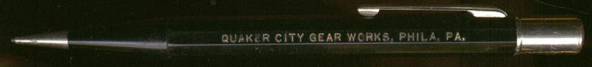 Image for Quaker City Gear Works Phildelphia mechanical pencil