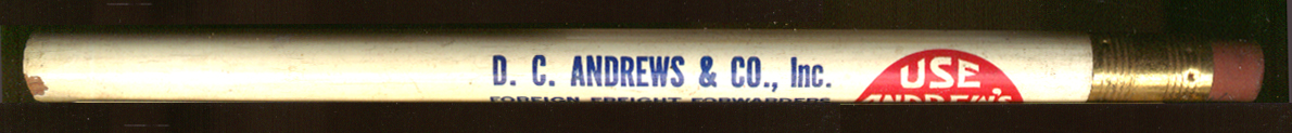 D C Andrews Freight Forwarders NY advertising pencil