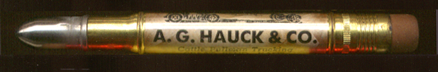 A G Hauck Cattle Trucking Great Bend KS ad pencil