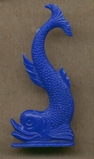 Mythical Dolphin Fish deep blue Cracker Jack toy 1950s