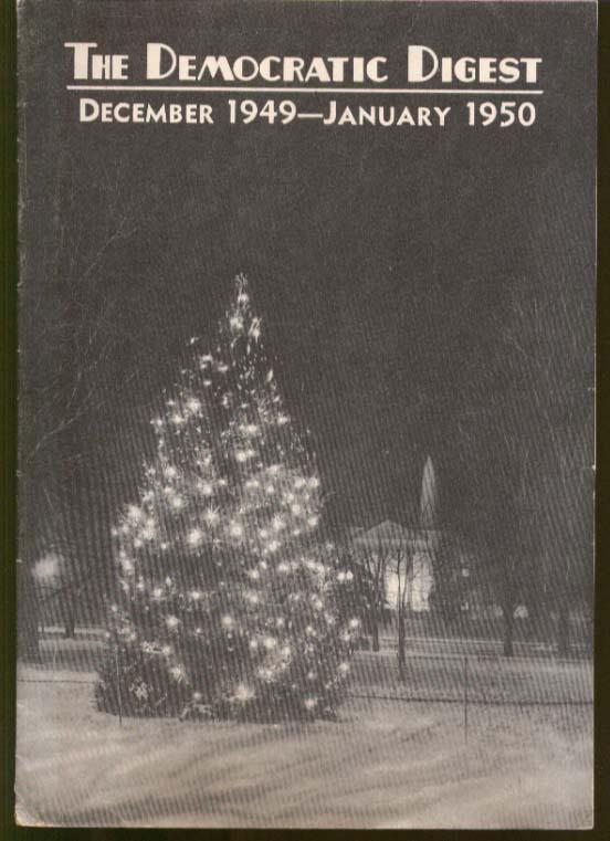 81st Congress report DEMOCRATIC DIGEST 12/1949-1/1950.