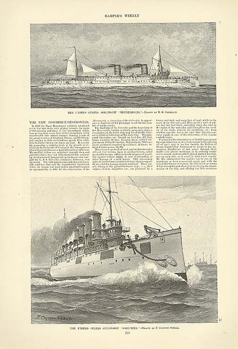 USS Minneapolis USS Columbia Harper's page 1893