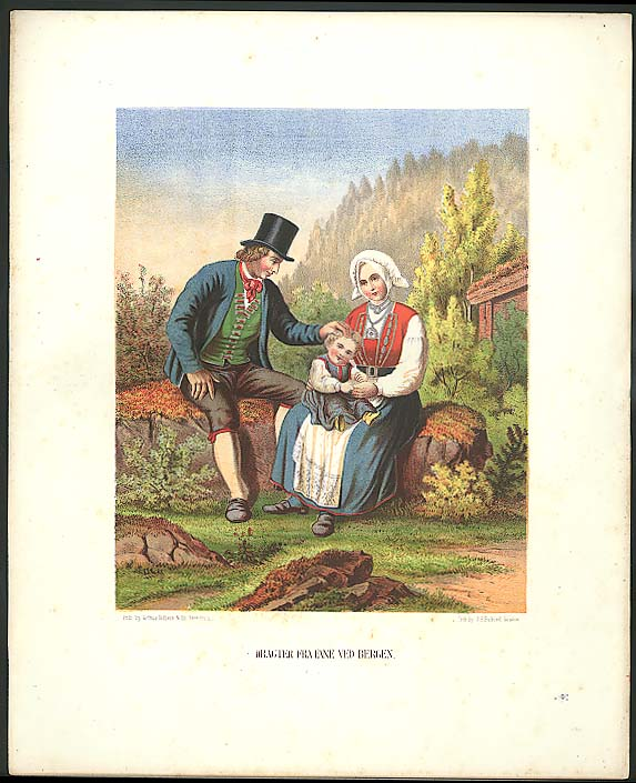 J H Bufford color lithograph Fane Ved Bergen 1851