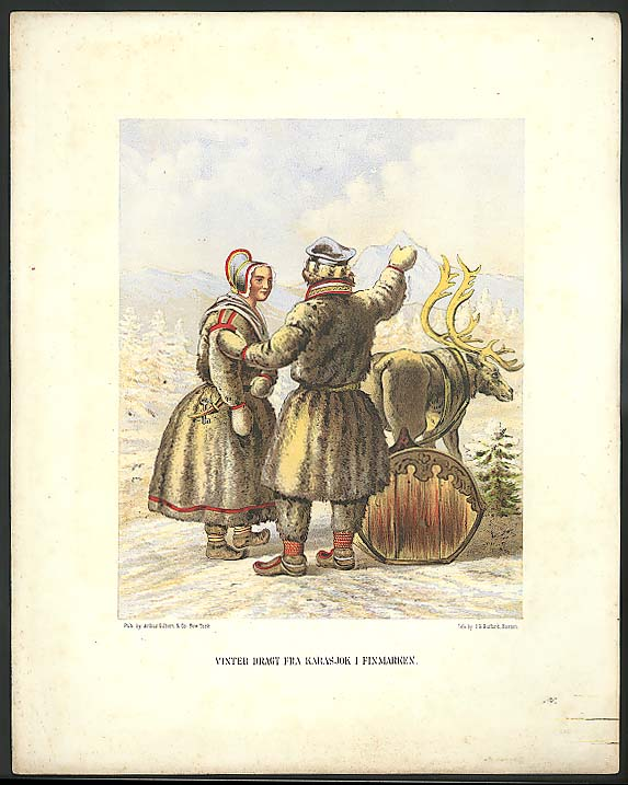 J H Bufford color lithograph Vinter Finmarken 1851
