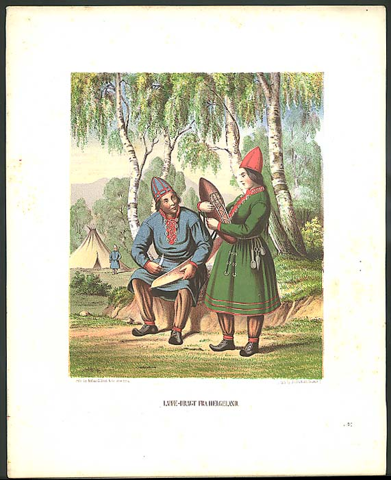 J H Bufford color lithograph Lappe-Dragt Helgeland 1851
