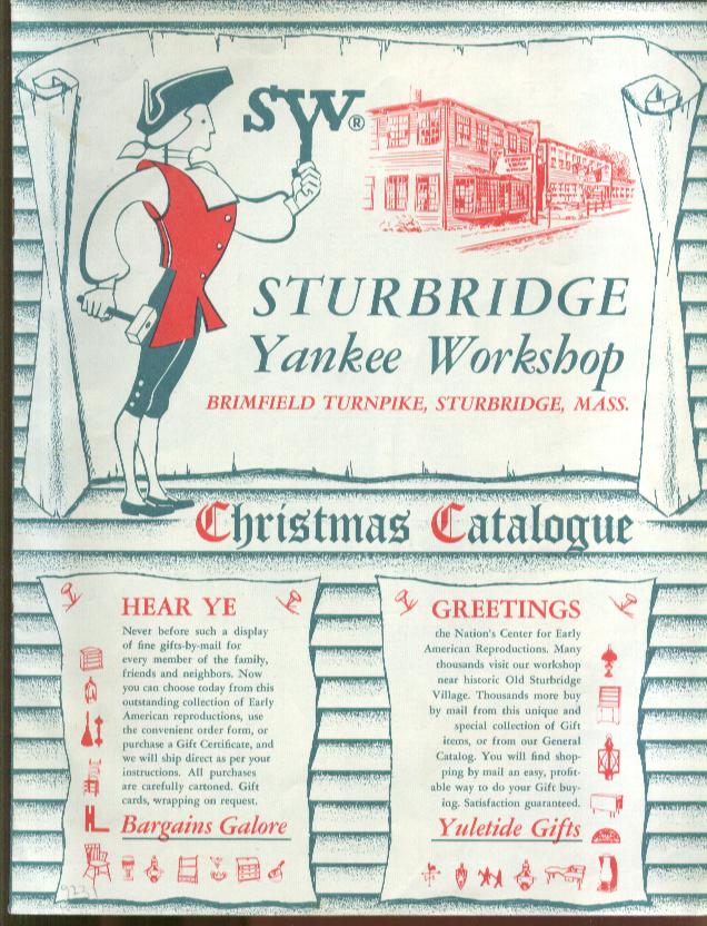 Sturbridge yankee workshop christmas catalog 1950s ebay for Sturbridge yankee workshop
