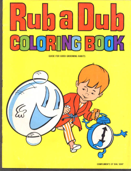 Dial Soap Rub a Dub Coloring Book 1967