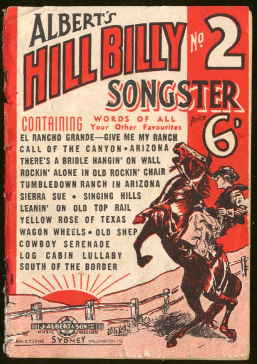 Albert's Hillbilly Songster #2 England ca 1945