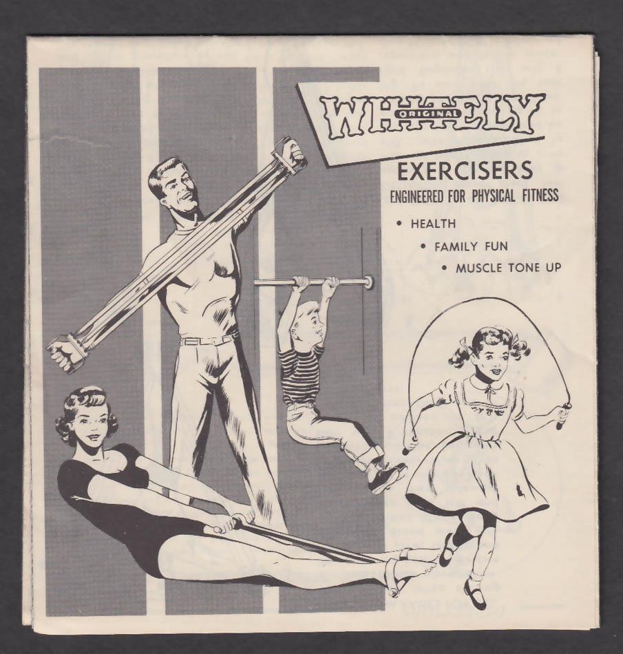 Whitely Exercisers instruction folder ca 1955