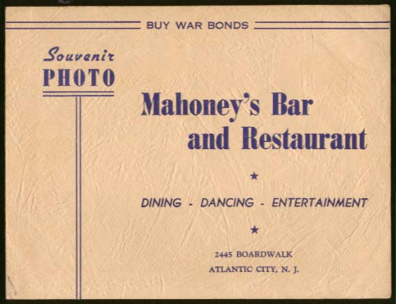 AM 1/c Belcont & Cranmer Mahoney's Atlantic City 1944