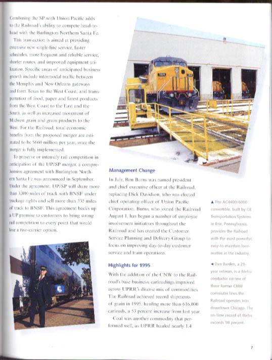 Union Pacific Corporation Annual Report 1995