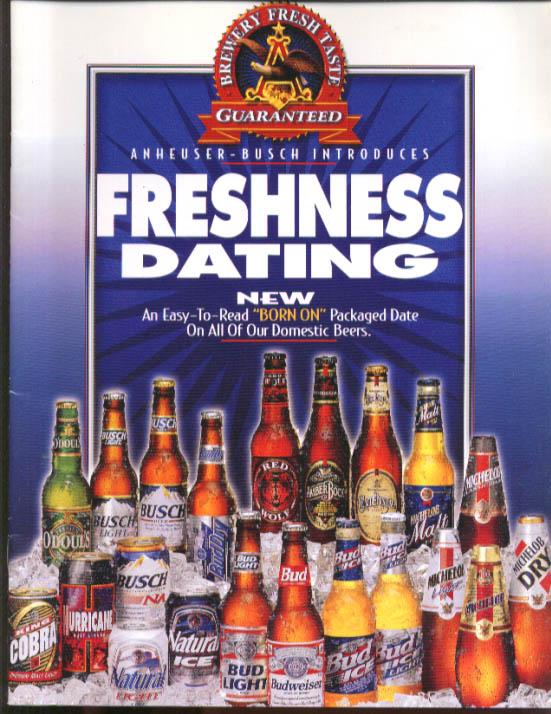 Anheuser-Busch Freshness Dating brochure 1996