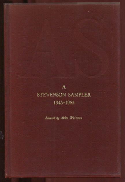 Adlai Stevenson Sampler 1945-1965 Harper gift edition