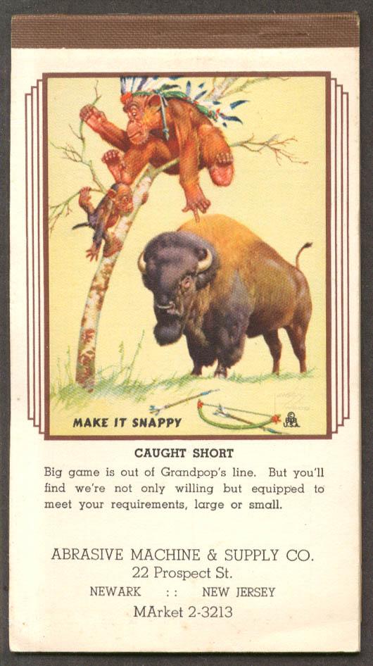 Lawson Wood monkeys Make It Snappy memo pad 10 1942