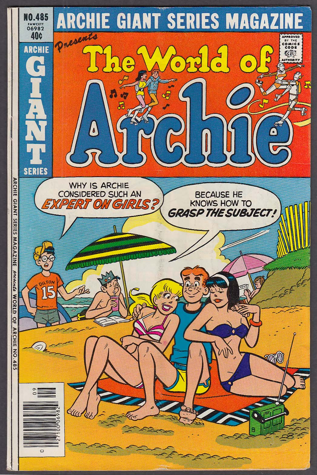 ARCHIE GIANT SERIES MAGAZINE #485 World of Archie Fawcett comic book 9 1979