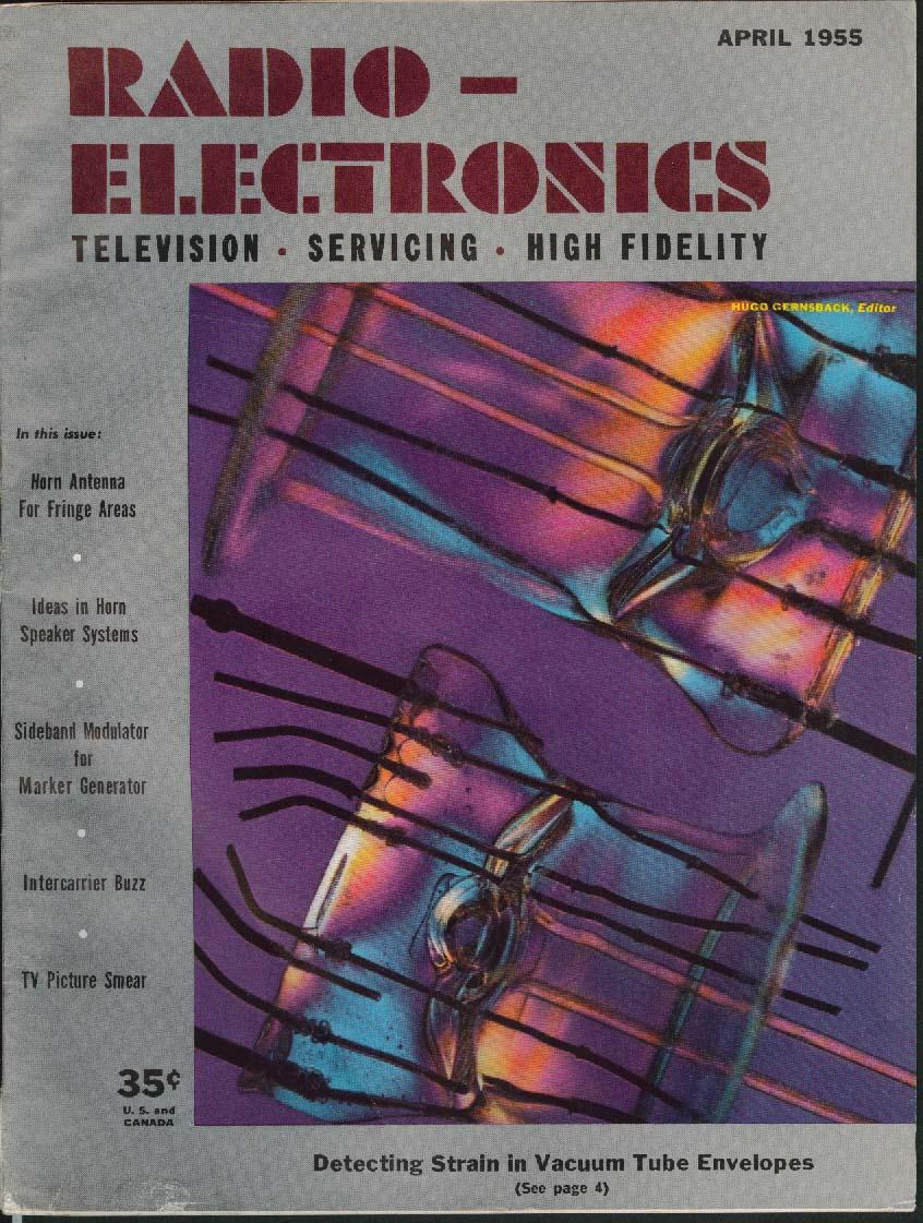 RADIO ELECTRONICS Vacuum Tube Envelope Strain TV 4 1955