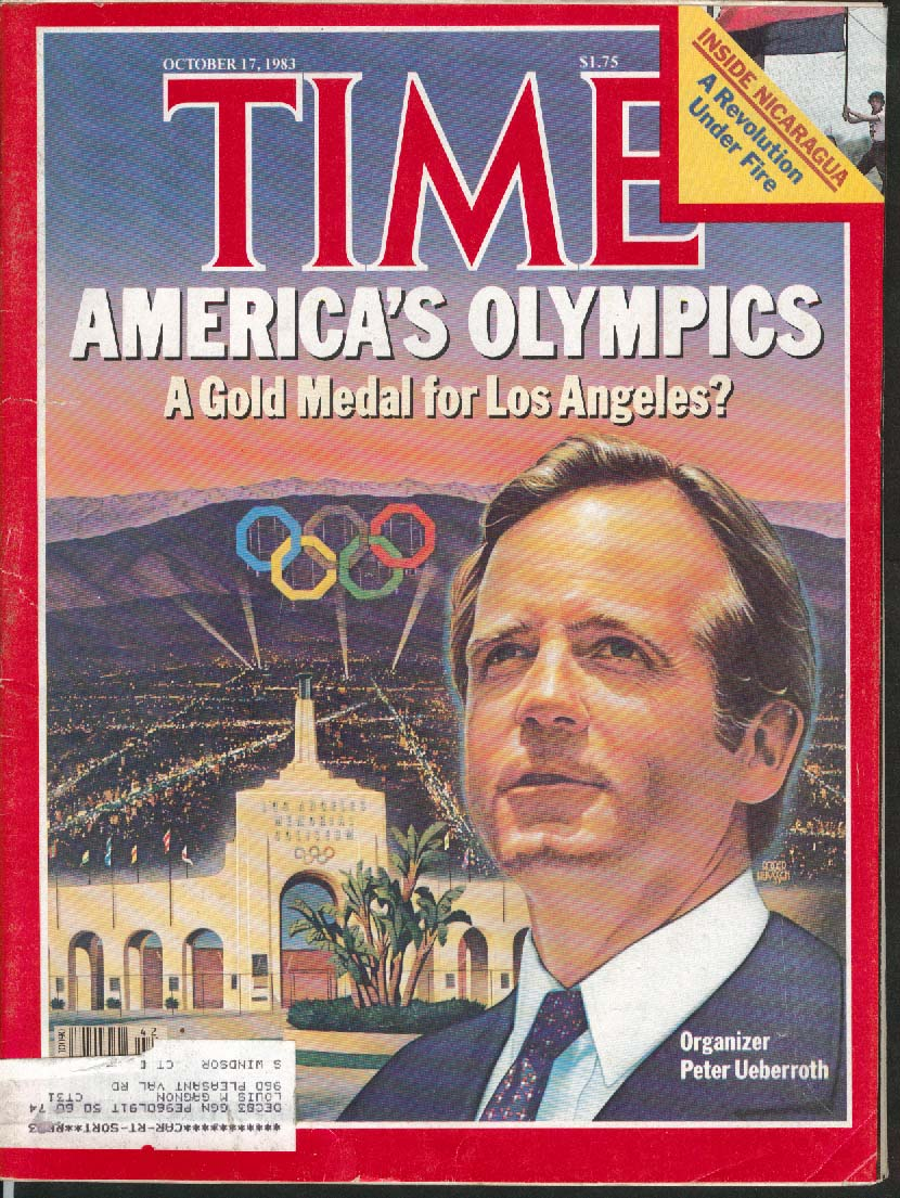 TIME Peter Ueberroth Los Angeles Olympics 10/17 1983