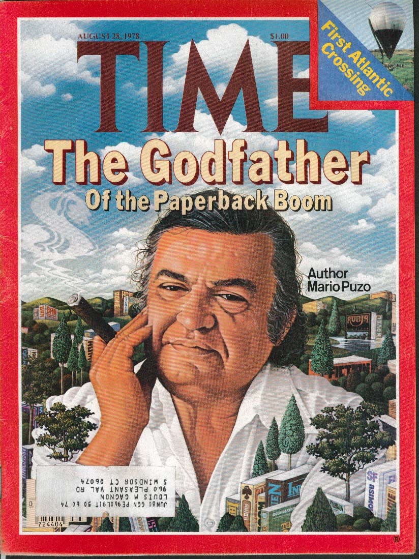 TIME Mario Puzo Godfather Atlantic Balloon 8/28 1978