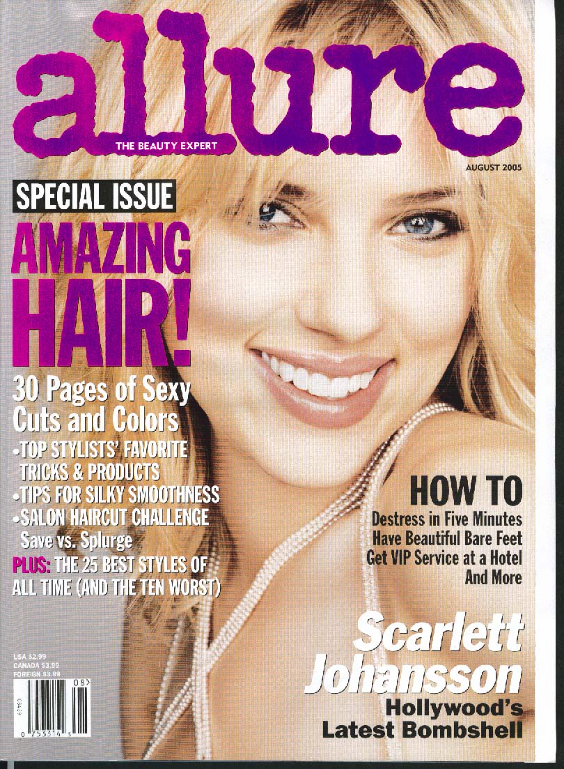 ALLURE Scarlett Johansson Haircuts Hotel Service 8 2005