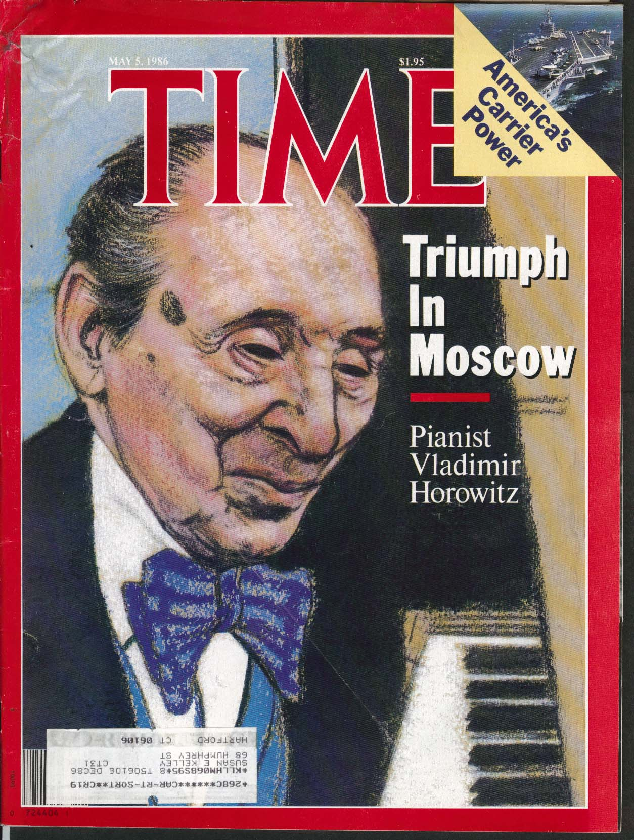 TIME Vladimir Horowitz Gaddafi Supercarriers 5/5 1986