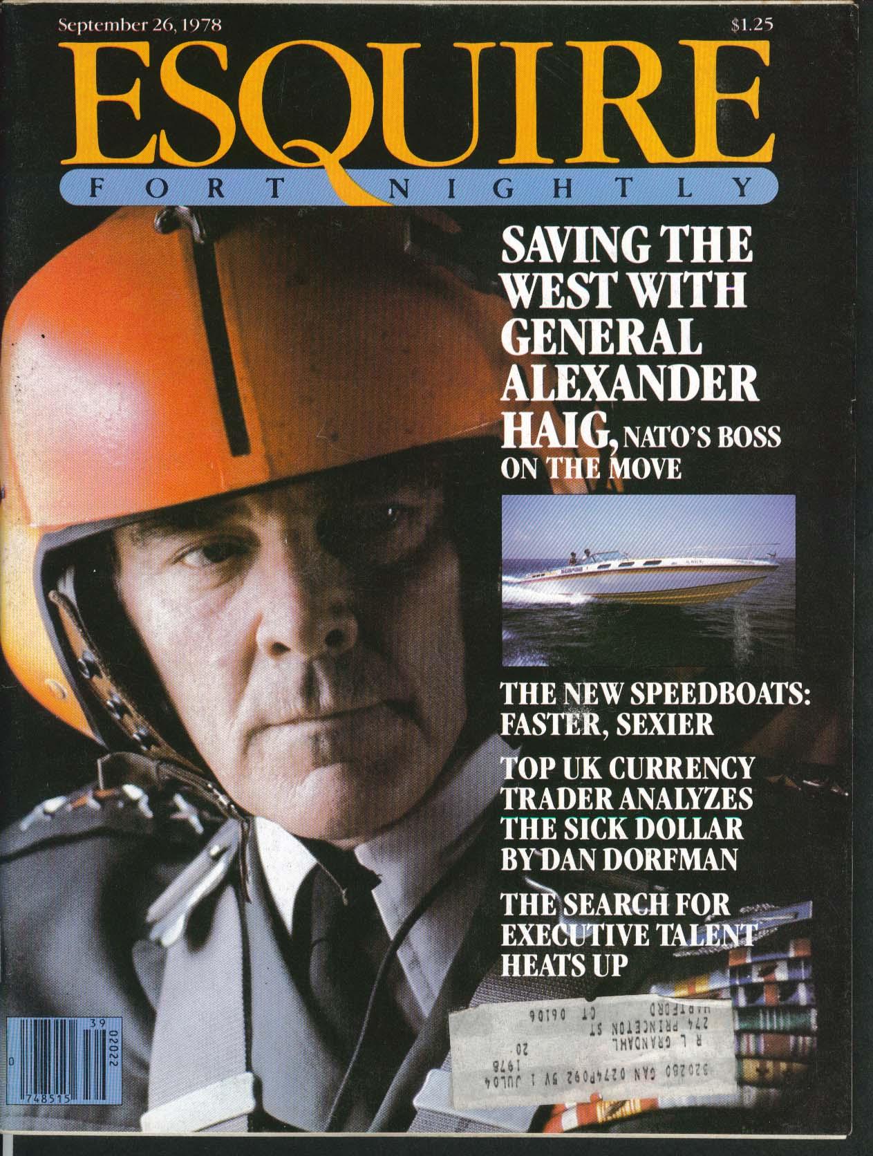 ESQUIRE General Alexander Haig Frank Corsaro 9/26 1978