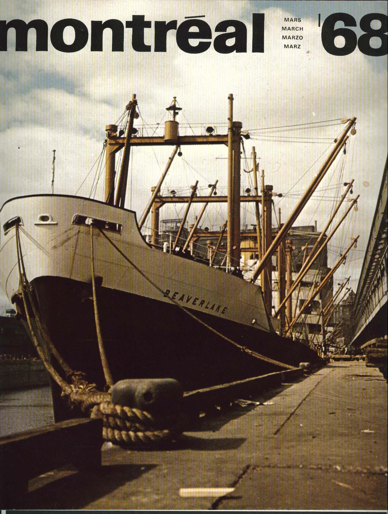 MONTREAL Port of Montreal Beaverlake Polyglot 3 1968
