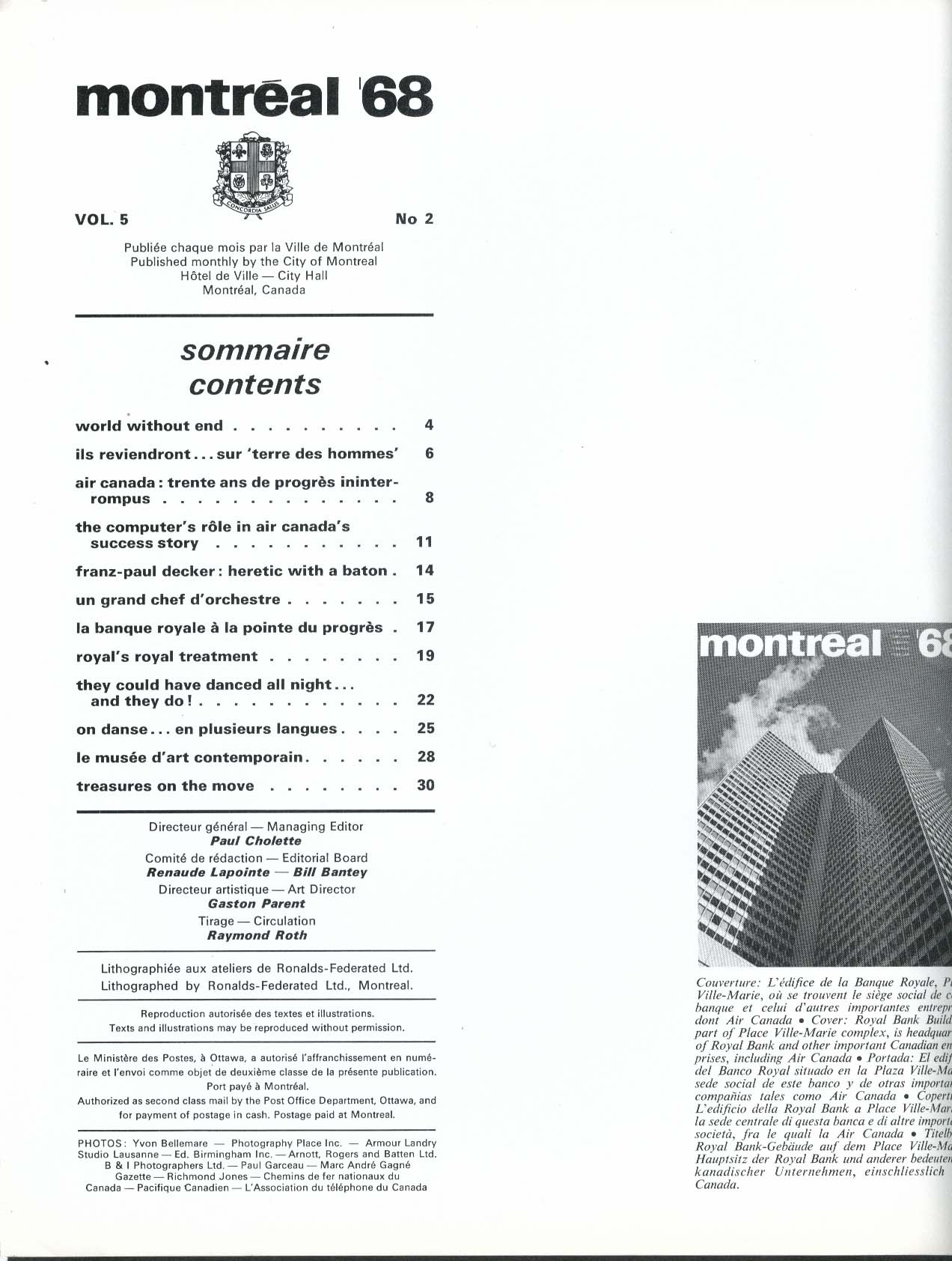 MONTREAL Air Canada Computers Franz-Paul Decker 2 1968