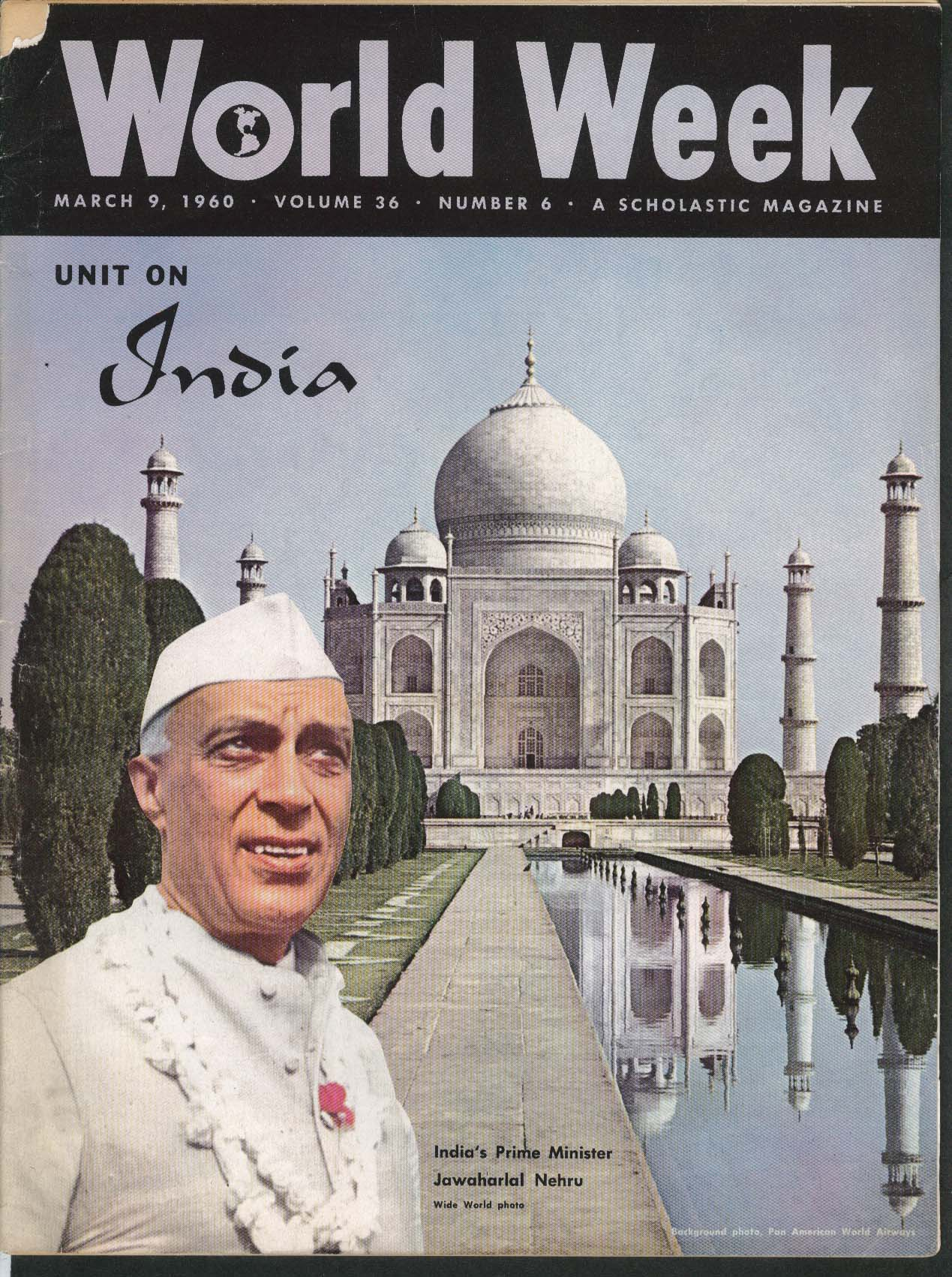WORLD WEEK Jawaharlal Nehru India Unit 3/9 1960