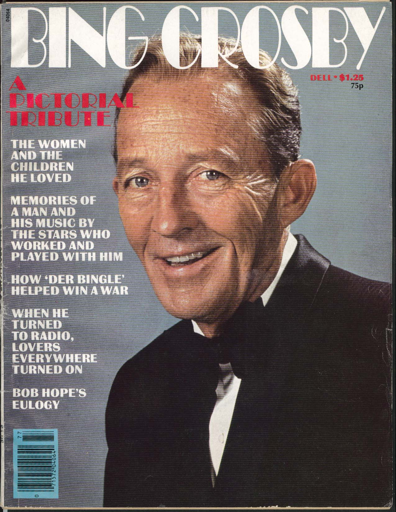 BING CROSBY Pictorial Tribute 1977 1st ed Memorial Mag